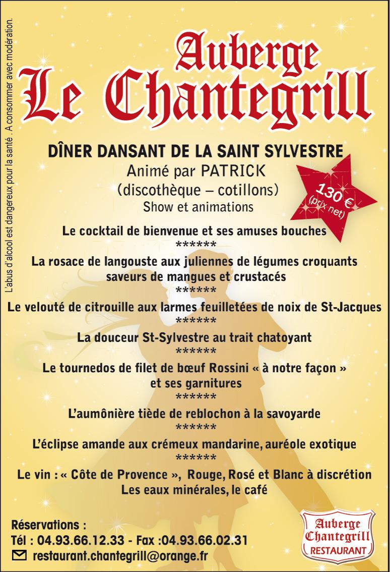 Menu Chantegrill