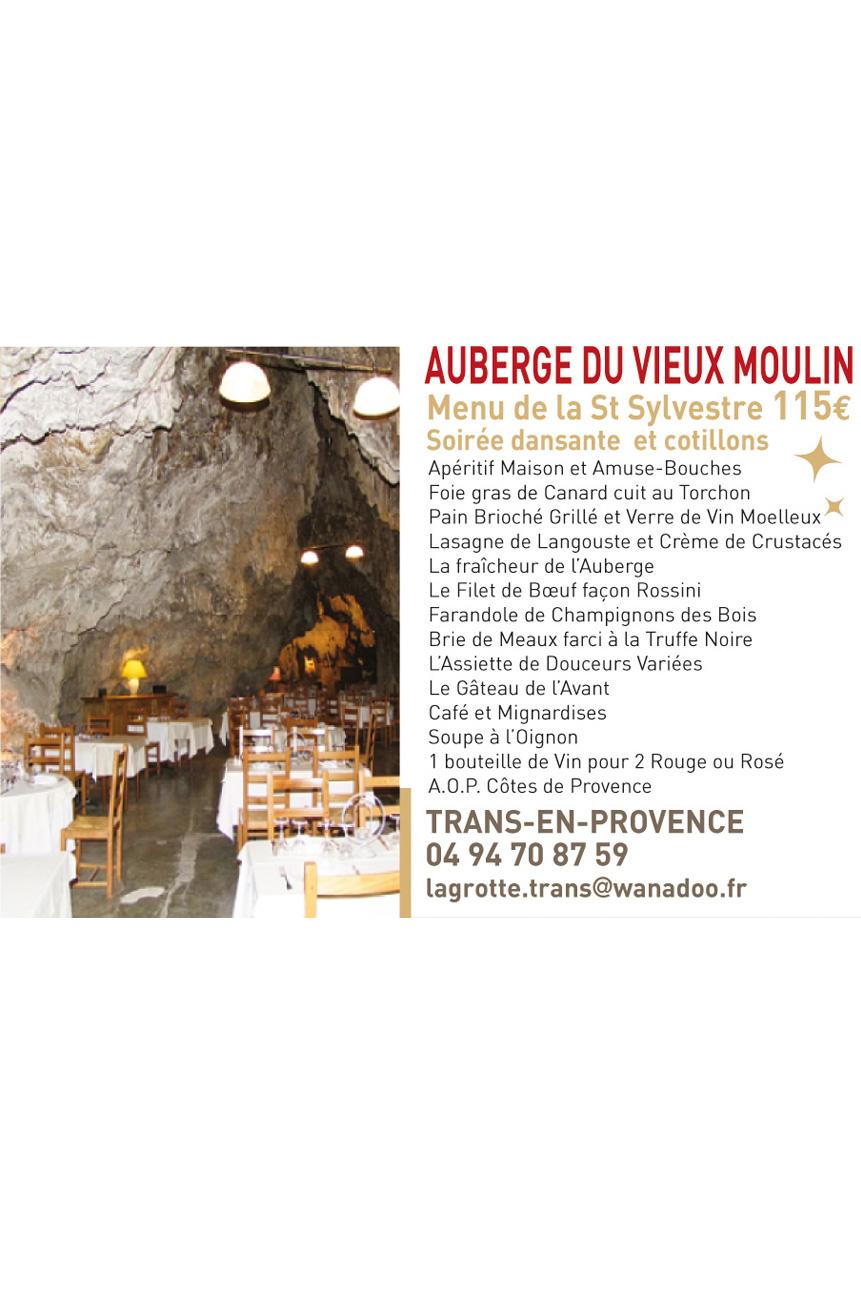 Menu Auberge du Vieux Moulin
